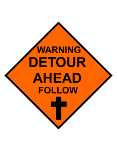 WARNING DETOUR