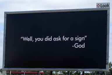 God sign 2