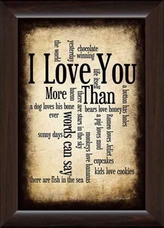 FR-12x18 PL.SB179 I Love You More