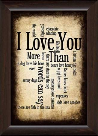 FR-12x18 PL.SB179 I Love You More