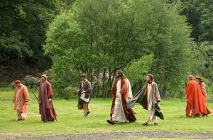 jesus teaching walking