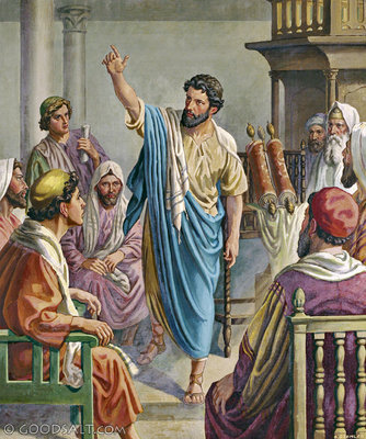 Paul in synagoge